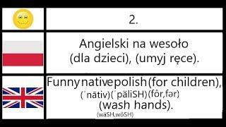 2. Angielski na wesoło (dla dzieci), (umyj ręce). - Funny polish (for children), (wash hands).
