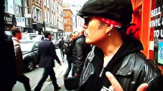 Adam Ant on ITV News London, 17th April 2014