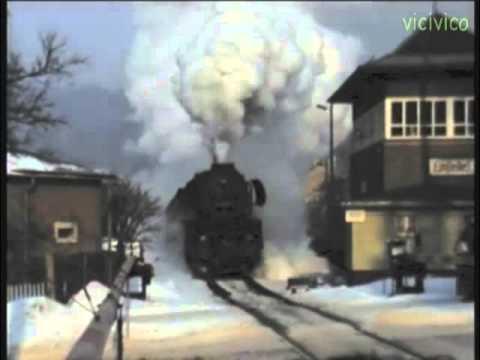 DDR Einsiedel Deutsche Reichsbahn   Winter 1986 Dampflok 50 3628-0