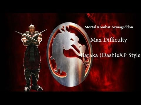 Mortal Kombat Armageddon - Baraka - Max Difficulty (Commentary)
