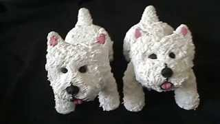 Polymer Clay Westie Ornaments   Copy