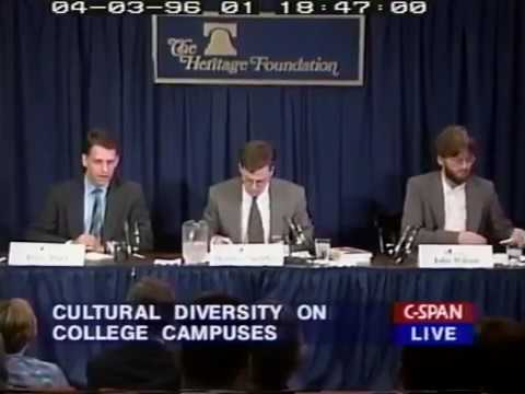 Peter Thiel discusses his book The Diversity Myth in 1996 [C-span]