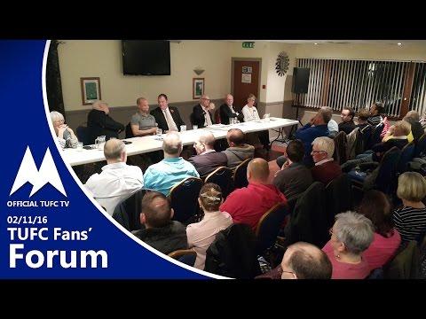 Official TUFC TV - TUFC Fans' Forum 02/11/16
