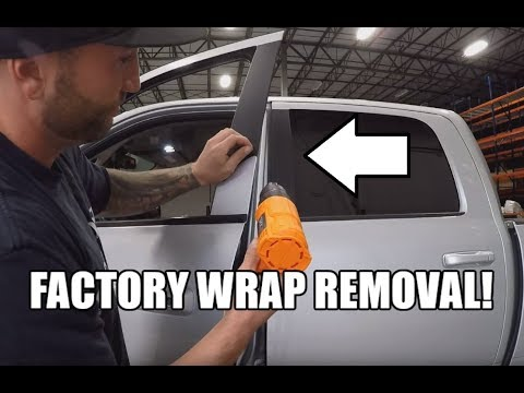 2015 Ram 2500 >> Removing the B Pillar Vinyl around the windows on your RAM ...