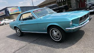 Test Drive 1968 Mustang $12,900 Maple Motors