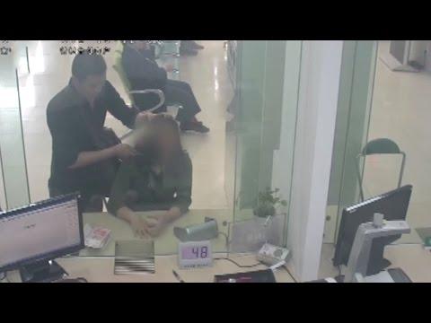 Bank employee saves