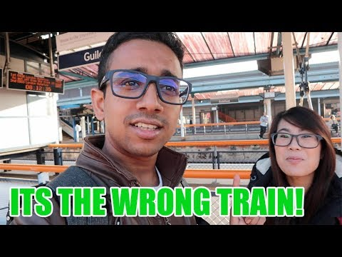 UKVLOG 3 I BOOKED THE WRONG TRAIN | CAMBRIDGE | GUILDFORD | PLAYING WITH CATS