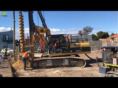 TYSIM KR125M CFA Multifunctional rig(Chassis is CAT320D, Construction site: Australia)