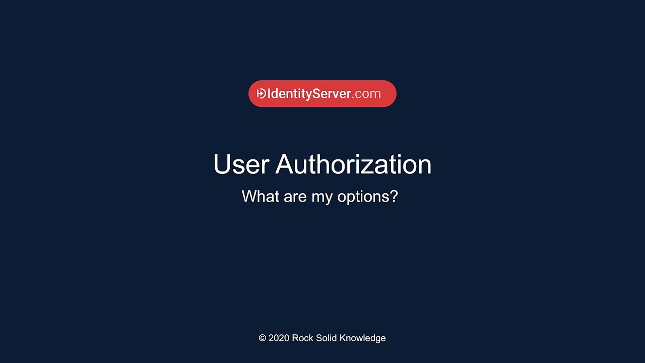 What is User Authorization? What are my options?