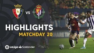 Highlights CA Osasuna vs Real Valladolid (0-0)