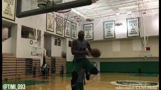 Boston Celtics Practice Highlights: Kyrie vs Tatum, Brown | Smart windmill dunk (10/03/2017)