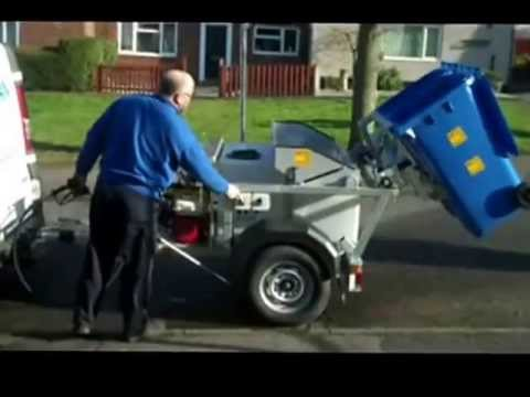 Wheelie Bin Cleaning >> Wheelie Bin Cleaning Trailer by MTH Tool Hire - YouTube