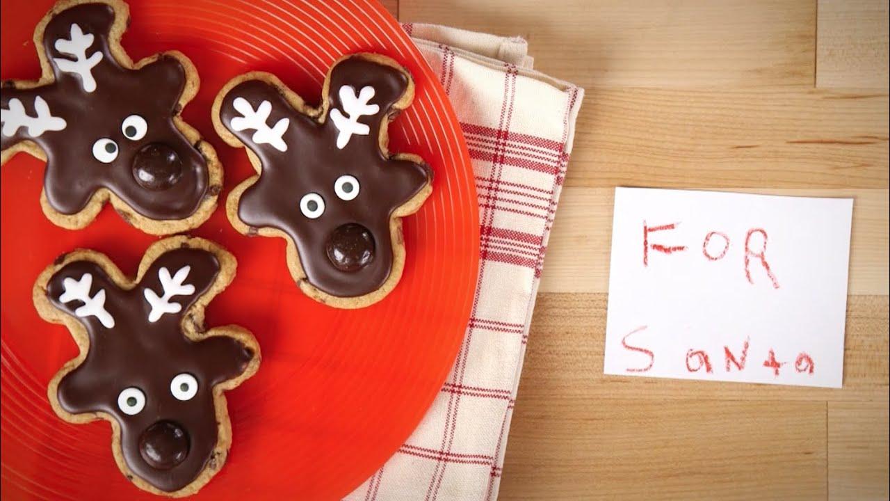 Chocolate Chip Reindeer Cookies
