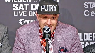 Tyson Fury POST FIGHT PRESS CONFERENCE | vs. Deontay Wilder