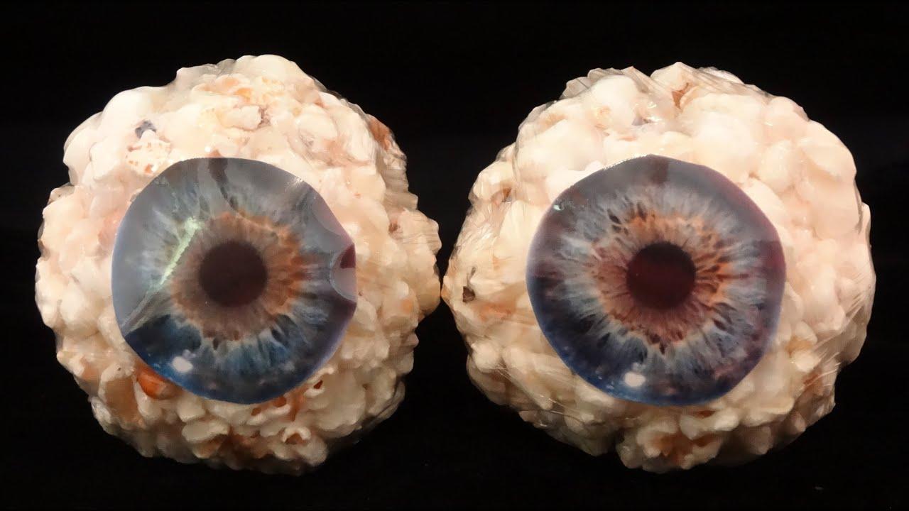 Popcorn Ball Eyeballs for Halloween-with yoyomax12 - YouTube