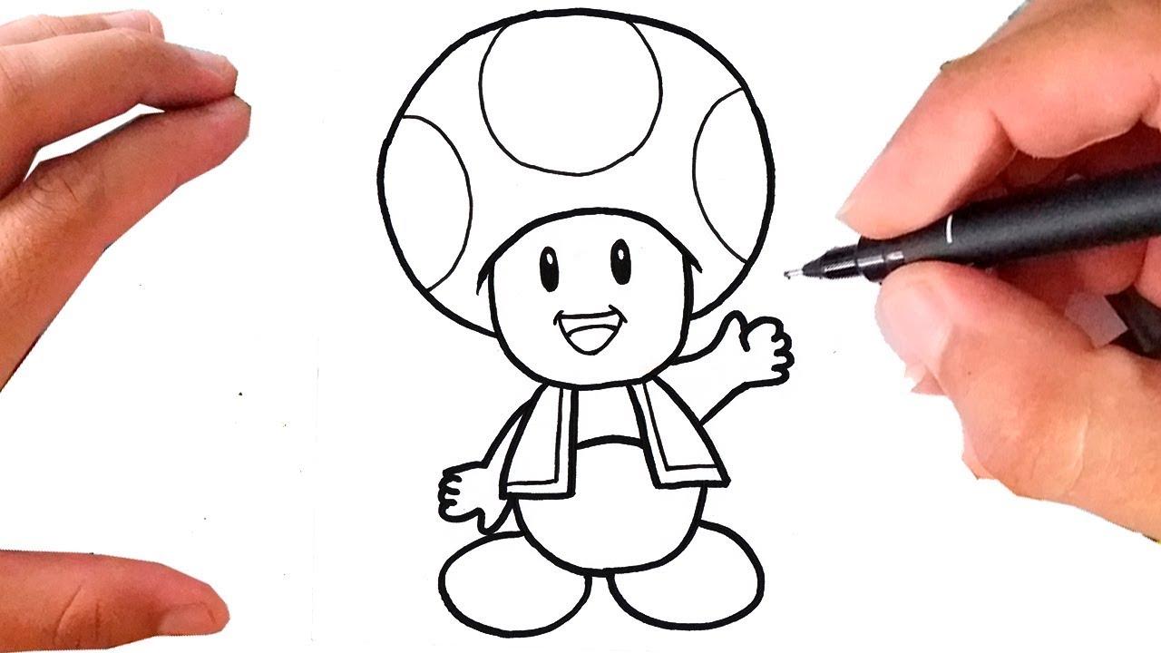 Como Desenhar Toad Cogumelo Super Mario Bros Youtube