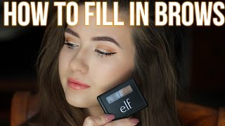 How To Fill in Your Eyebrows   ELF Eyebrow Kit   Easy for Beginners