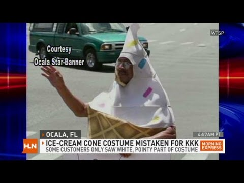 Morning Express with Robin Meade S1 u2022 E1 & Ice cream cone costume confused for Klan - YouTube