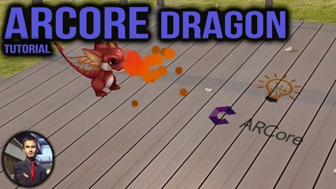 How to create a Dragon in Augmented Reality in Unity ARCore Tutorial