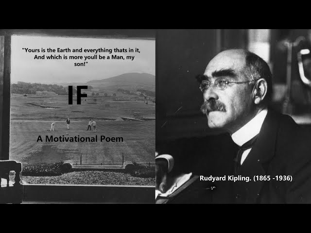 Motivational Poem IF by Rudyard Kipling | Father to son inspirational poem IF