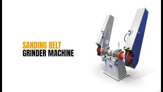 Rebel | Sanding Belt Machine for aluminum foundry parts.