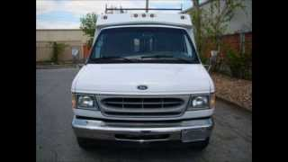 02 ford e350 enclosed utility service van for sale plumber service trucks
