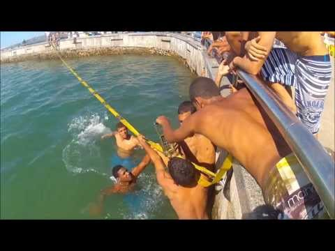 Slackline Salvador - Waterline na Ponta de Humaitá - Slackline for life