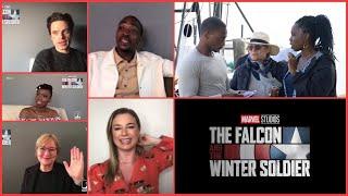 The Falcon & The Winter Soldier Cast & Filmmaker (Mackie, Stan, Van Camp, Odule, Spellman & Skogland