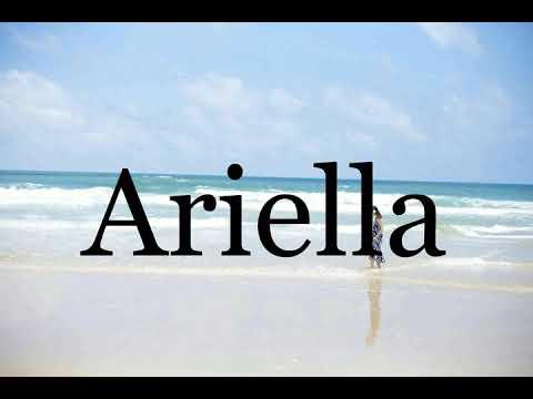 Download How To Pronounce Ariella🌈🌈🌈🌈🌈🌈Pronunciation Of Ariella