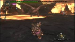 Monster Hunter Tri - Random Online Intermission - Crazy Alatreon Hammer Solo