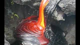 fluid motion of pāhoehoe lava flow at Royal Gardens subdivision