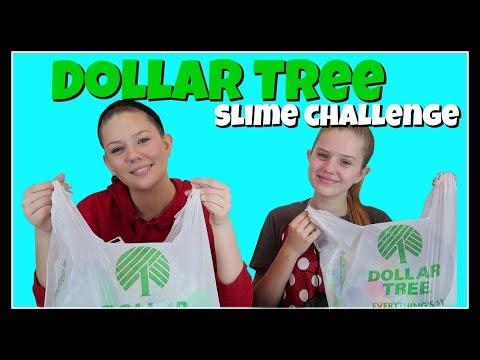 DOLLAR TREE SLIME CHALLENGE    Taylor and Vanessa