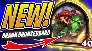 NEW BATTLEGROUNDS HERO: BRANN BRONZEBEARD! | Hearthstone Battlegrounds | HS Auto Battler