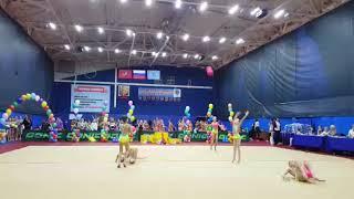 Мяч групповое выступление Художественная гимнастика