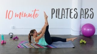 10 Minute Pilates Abs | Tone & Tighten your Waistline!