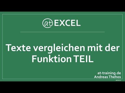 Texte in Excel auf Buchstabenebene vergleichen - Funktion TEIL