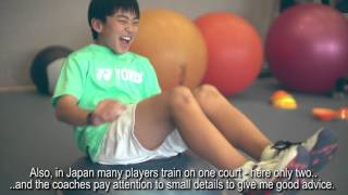 Japanese top juniors training at the Tennis-University