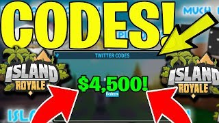 NEW ISLAND ROYALE CODES (ROBLOX)🔥 *NEW* UPDATE $4,500 BUCKS!