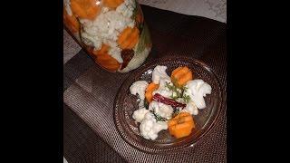 Засолка цветной капусты по - грузински / Salting cauliflower - Georgian recipe