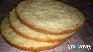 БИСКВИТ.  Пошаговый рецепт бисквита. galleta mojada
