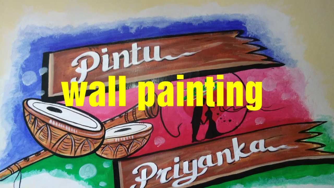 Wall Painting Marriage Art