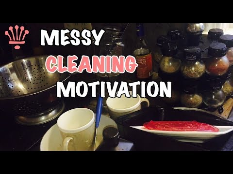 CLEANING MY EXTREMELY MESSY KITCHEN   BEFORE & AFTER   AN ACTUAL MESSY HOUSE