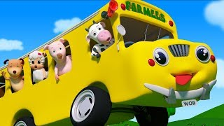 Wheels on the Bus  Nursery Rhymes  Baby Songs  Kids Cartoon Videos