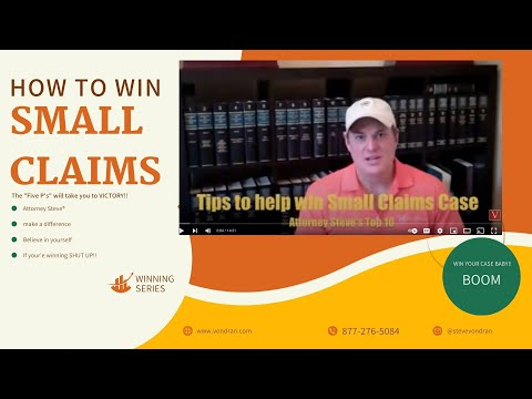 How to win a small claims court lawsuit