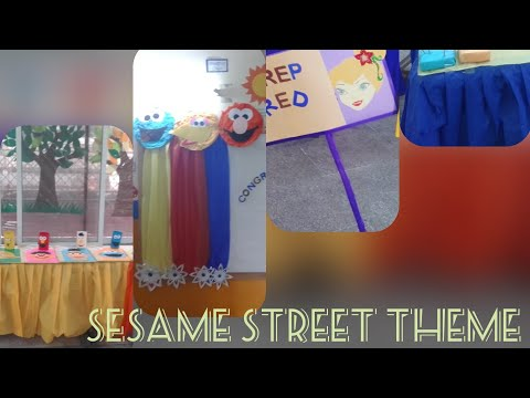Sesame Street theme! Classroom decore for result day