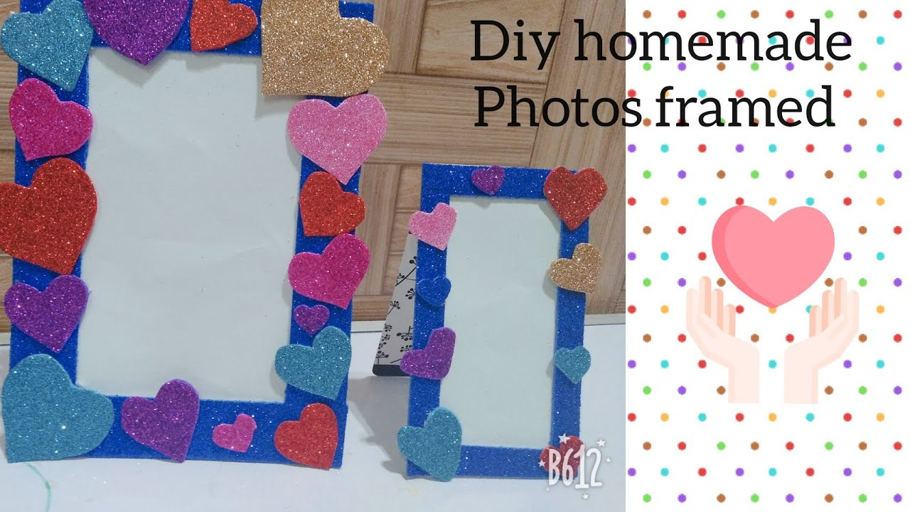 Diy photo frame /how to make homemade glitter photo frame /crafts ...