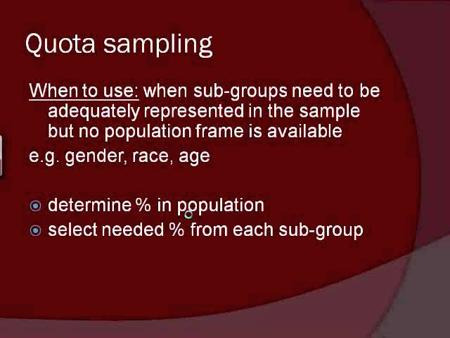 random sampling method in research These include simple random samples, systematic samples, stratified samples, and cluster samples simple random samplesthe most basic type of some statistics and research methods textbooks offer such tables as appendices to the text perhaps a more accessible source is one of the many free.