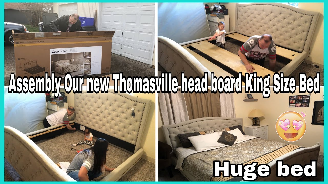 Assembly Our New Thomasville Upholestered King Size Bed Youtube