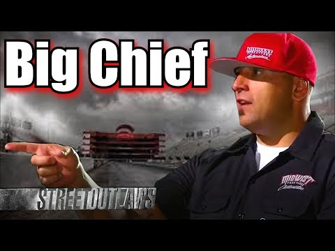 Street Outlaws Big Chief drag racing at Outlaw Armageddon 3