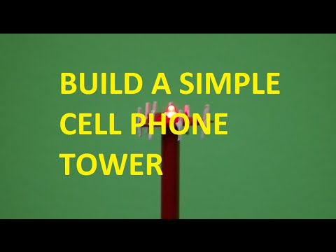 How To Build A Simple Cell Phone Tower Youtube